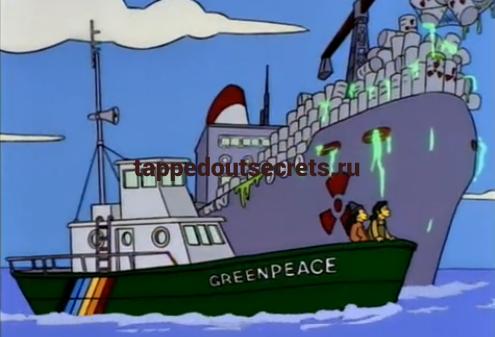 """Лодка """"Гринпис"""" в """"Симпсонах"""""""