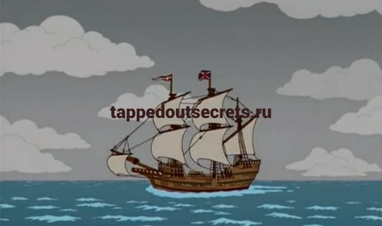 "Мэйфлауэр в сериале ""Симпсоны"""
