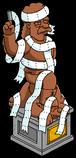 Статуя Джебедайи обмотана туалетной бумагой