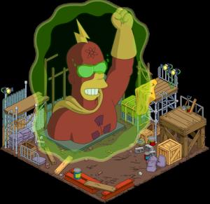 Статуя радиоактивного человека