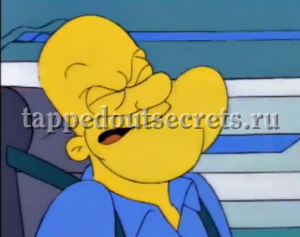 Во время испытания в центрифуге лицо и голос Гомера от перегрузки становятся похожими на моряка Попая