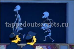 Сцена в начале эпизода, где рабочие АЭС проходят вдоль рентген-стены, — пародия на фильм «Вспомнить всё».