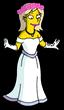 Бэкки в свадебном платье