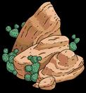 Камень с кактусами