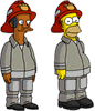 Апу и Гомер - пожарные