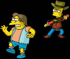 Барт заставляет Нельсона плясать