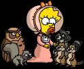 Мэгги играет с дикими животными