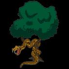 Гигантский змей на дереве