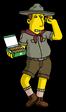 Патриот продает печенье