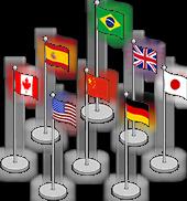 Флаги 30 стран