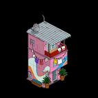 Покрашенный дом