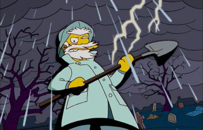 """Билли Копатель-могил в """"Симпсонах"""""""