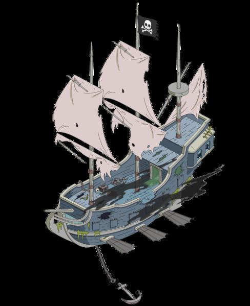 Пиратский корабль-призрак