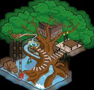 Дерево-водная горка