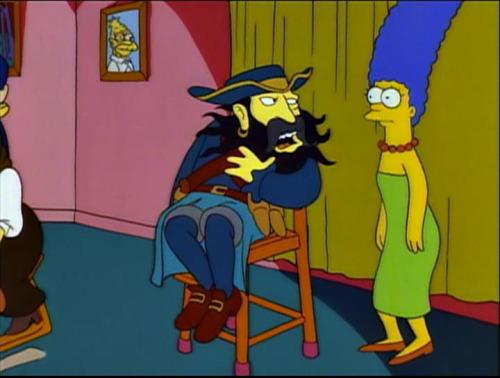 Черная борода в Симпсонах