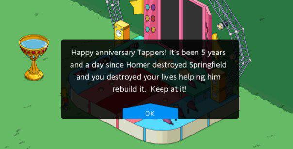 "5 лет игре ""Симпсоны: Спрингфилд"""